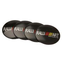 4 stücke 56.5mm Ralliart Emblem Auto Rad Center Hub Caps Aufkleber Zubehör für Mitsubishi Lancer 10 ASX Outlander 3 Pajero Sport