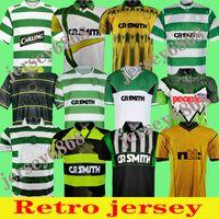 84 86 91 Jersey rétro Celtic Retro Soccer Jerseys Home 95 96 97 98 99 Chemises de football Larsson Sutton Nakamura Keane Black Sutton 05 06 1989