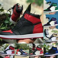 2021 alta 1 1s sapatos de basquete homens mulheres banidas dedo do pé preto jogo verde verde patente real novo amor despedaçado fragmento twist designers sapato