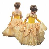 코스프레 벨 드레스 잠자는 숲속의 미녀 의상 할로윈 여자 파티 드레스 소녀 공주 Elza Vestidos 판타지아 4 ~ 10 세 SYBb 번호