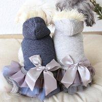 الفاخرة الفراء طوق الكلب معطف الشتاء الدافئة الصوف الكلب الملابس الماس مبطن مبطن معطف الحيوانات الأليفة للكلاب الصغيرة فتاة جرو معطف اللباس T200710