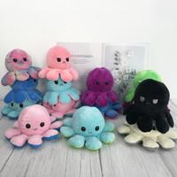 Reversível Flip Octopus Pelúcia Brinquedo Chave Macio Animal Casa Acessórios Cute Animal Boneca Crianças Presentes Bebê Companheiro De Pelúcia Brinquedo