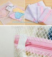 Çamaşır Çantaları 4 adet / grup 40x 50 cm Polyester Net Iç Çamaşırı Için Yıkama Sepeti, Alışveriş