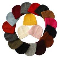 Schädel-Kappe Beanies Hut gestrickte Mann-Winter Short Warm Gorras Bonnet Skullies Junge Frau Street Fashion Hut