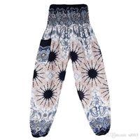Pantalones de yoga mujer ocio tiempo linterna pantalones seda mujeres azul blanco rojo verde pantalón nueva llegada 330 l19