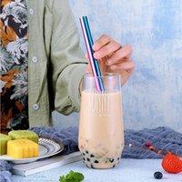 شرب القش ssgp سترو السترو الفولاذ المقاوم للصدأ مستقيم القهوة الحليب أداة reusable الملونة المنزل حزب المشروبات المطبخ بار الإكسسوارات 1