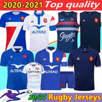 Новый стиль 2020 2021 Франция Super Rugby Jerseys рубашка Таиланд Качество 20/21 Франция Rugby Maillot de oper French Boln Rugby Hear