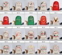 순록 산타 클로스 자루면 환경 보호 번들 입 캔버스 가방 무스 핫 홈 축제 크리스마스 자루 선물 가방