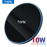 Topk B02W 10W Cargador inalámbrico LED Portátil Universal Fast Wireless Wireless Cargador de teléfono para Samsung S10 S9 S8 Xiaomi MI9 FY7507