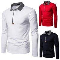 Camisa de costura de los hombres de los hombres de los hombres camisas delgadas de la manga larga de la blusa transpirable color fresco para hombres de negocios S1