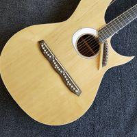 Kundenspezifische Fichte Top Ahorn Rückseite Palisander Griffbrett Grand Harp Akustikgitarre