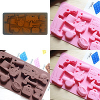 Silicone Moldes Jelly bolo de chocolate cookies Mold Whistling Hidrante Shapes Mold Kitchen Supplies Novos produtos 3XN F2
