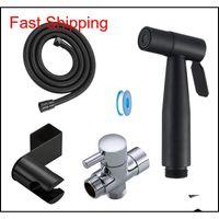 Black Toiletten-Bidet-Sprayer-Kit. Set Hand Hold Edelstahl Shattaf für Badezimmer Persönlichkeit qylqhk dh_seller2010