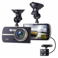 4 بوصة FHD 1080P DVR كاميرا مزدوجة عدسة الليل للرؤية الليلية G- الاستشعار الرؤية الخلفية السيارات registrator داش كام فيديو مسجل dashcam سيارة dvr