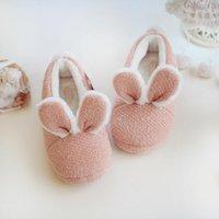 Japon Polar Kış Ev Terlik Ayakkabı Kadın Flats Noel Yatak Odası Kaymaz Peluş Kawaii Kapalı Kauçuk Terlik