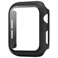Copertura completa per Apple Watch Series 5 4 3 2 IWatch Matte Plastic Bumper Caso di telaio duro con cassa del telaio per schermo in vetro Accessorio proteggi schermo