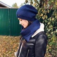Furtalk Kış Kadınlar Kızlar Için Örme Bere Şapka Yün Hırın Şapka Ve Eşarp Seti Kadın Infinity Eşarplar1