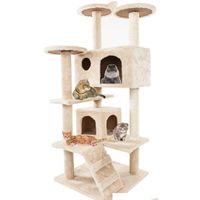 Cat Деревья и башни Prime для больших кошек 52 дюйма мебельные котенки активный башня с царапинкой qylsac dh_seller2010