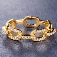 Anello per catena creativo Anello di nozze zircone per le donne in argento oro rosa rame ronzio strass anello popolare gioielli di fidanzamento