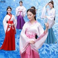 4color traditionelle chinesische kleidung alte dance kostüm hanfu für frauen festival outfit frau leistung kostüme kleid kg-932