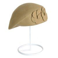 Women Vintage Faux Wool Casual Beret Gift Soft Autumn Winter Elegant Hats Travel Warm Breathable Wear Resistance Flower Pattern