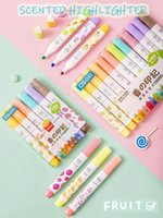 Andstal 12 colores conquiente Jumbo resaltador pluma pluma aroma suave fluorescente color fluorescente resaltadores escuela texto marcadores marcadores1