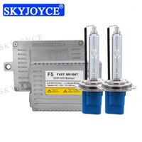 Skyjoyce AC 55W F5 Rápido Brilhante HID Ballast Ballast Farol Lâmpada Xenon H1 H3 H11 Hb3 HB4 9012 D2H H7 5500K H1 HID Bulbo Kit1
