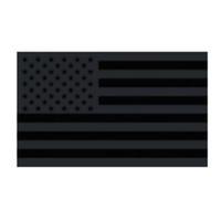 Envío gratis Fábrica directa al por mayor 3x5fts 90x150cm Estados Unidos estrellas rayas Black America bandera para la decoración