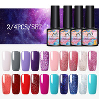 MAD DOLL gel Nail Polish Set ibrida Vernici 4 pezzi Base Top per i chiodi di arte UV LED LAMP gel Kit Manicure Nails polacco Set
