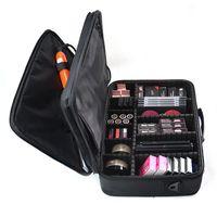 Профессиональный макияж сумка женщин Косметика Дело Lady Качество Oxford Женский корейский макияж Box девушки большой емкости для путешествий Wash Bag