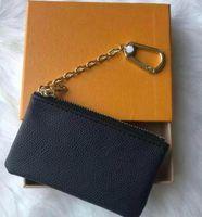 Custodia chiave M62650 Pochette Clitte Designer Fashion Womens Mens Portachiavi Portachiavi Carta di credito Portamoneta Mini Portafoglio Borsa Charm Brown Canvas