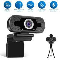 Camcorders Top Verkauf 2021 Full HD 1080P Web Cam Desktop PC Video anrufen Webcam-Kamera mit Mikrofonstütze Großhandel und Drop1