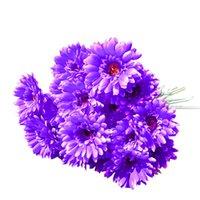 10pcs  Lot Gerbera Daisy Artificial Flower For Decoration Silk Sunflower Bouquet Flowers Wedding Garden Home Party Decor
