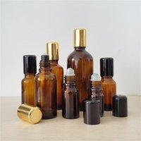 100 stücke 5ml 10ml 15ml 20ml 30 ml 50ml 100ml Bernsteinrolle auf Flasche für ätherische Öle Nachfüllbare Parfümflasche Deodorant Container