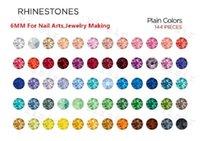 6mm 10000 räkningar / lot flatback harts rhinestones nonhotfix facetted embellishments sy kristall