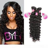 Оптом дешевые 8a бразильские волосы девственницы глубокая волна 3 пакета на лота перуанское малазийское человеческое волосы плетение волос 8-28 дюймов бесплатная доставка