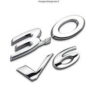 Cola trasera de la parte trasera Metal 3.0 V6 Logo Etiqueta Etiqueta Etiquetas Accesorios Automóviles para JAGUAR F-TYPE XF XJ X-TIPO XE F-PACE XEL XFL XK XK S-Type