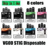 100% original VGOD Stig Dispositivo de vagem descartável 3 PCS Pack 270mAh Bateria 1.2ml Cartucho Vape Pen Kit PK Eon Stick DHL Fast Shipping