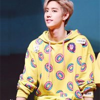 Spring autumn fashion donuts printing hoodies for men women kpop got7 mark just right bangtan boys same sweatshirt 201008