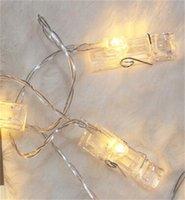 Lámpara decorativa Noche Marco de noche String LED Luz Fotografías Carpeta Control remoto Navidad 8 3IL N2
