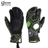 Новый сенсорный экран лыжные перчатки Три палец против холода бархата дышащие сноубордические перчатки осень зима на открытом воздухе1