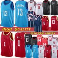 Neue Saison Houston Rockets Golden State Warriors Männer Basketball Trikots 13 James Harden 3 Chris Paul 7 Carmelo Anthony Nähte Basketball Trikots Top-Qualität Hot 20