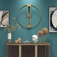 Nordic Metal-Wanduhr Retro Eisen rundes Gesicht große Gärten Uhr Home Decoration Wanduhr Modernes Design Reloj verglichen