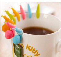 6 цветов на выбор Cute Snail силикона формы чая держатель мешка Чашку конфеты цвета Подарочный набор хороший чай инструменты чай заварки