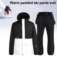 Winter Skiing Suit 2 in 1 Waterproof Snowsuit with Jacket Pa...