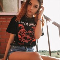 Love Will Tear Us Apart Unisex Tumblr Fashion Grunge Black T...