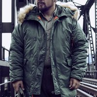 DAFEILI N3B военного парка меховой капюшон долго русской зимы куртки пальто мужчины толщиной Homme 201007