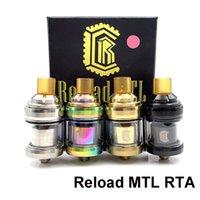 RELAGEMPEXE Reload MTL RTA Tanque 22mm Diâmetro 2ML Capacidade Ajustável Atomizador com Dicas Amarelas Dicas Bocal Vape Mod