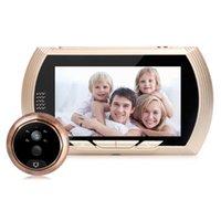 HD 4,3 inç WIFI Hareket Peephole Kızılötesi Gece Görüş Kamerası Kapı Diyafonu Alarmı Smart Dijital Kapı Görüntüleyici Kameralar Algılama