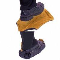 Las acciones 2pcs / pair Paso del calcetín en la cubierta del zapato reutilizable One Step Free Hand calcetín Cubrezapatos portable durable Cubiertas automáticas Q4bF #